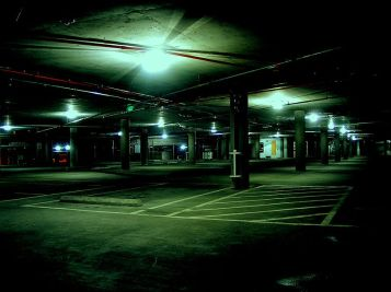 creepy parking garage