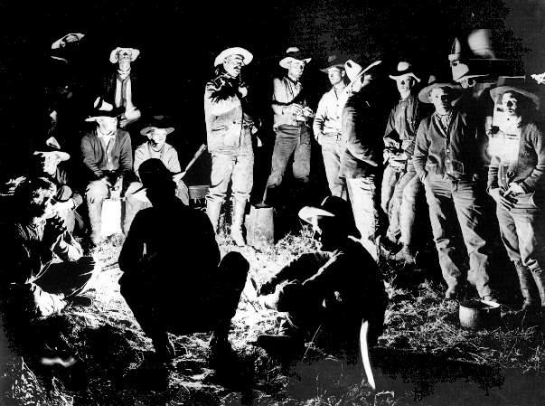 old cowboy campfire photo