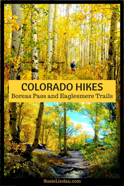 Colorado Hikes - Boreas Pass and Eaglesmere Trails. Beautiful fall color and eye candy. Aspens along the trail great any time of year.