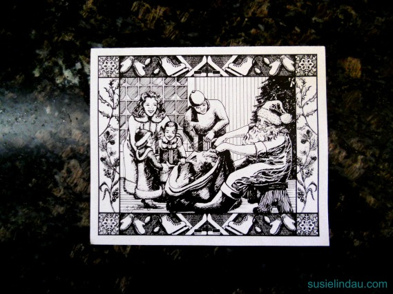 illustrated Christmas card 95