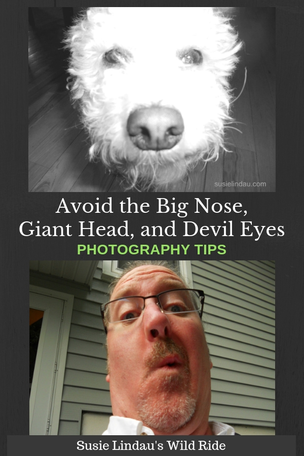 Avoid the Big Nose, Giant Head, and Devil Eyes. Photography tips and ideas to make your subject look fantastic. Photography, tips, hacks and diys, holiday tips and tricks #photography #photographyideas #photographytips #lifehacks #pets