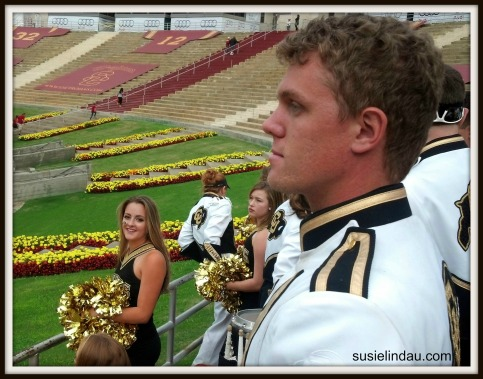 Courtney Lindau on the CU dance team and band