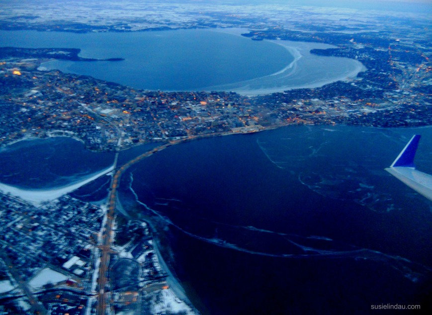 aerial view of Madison