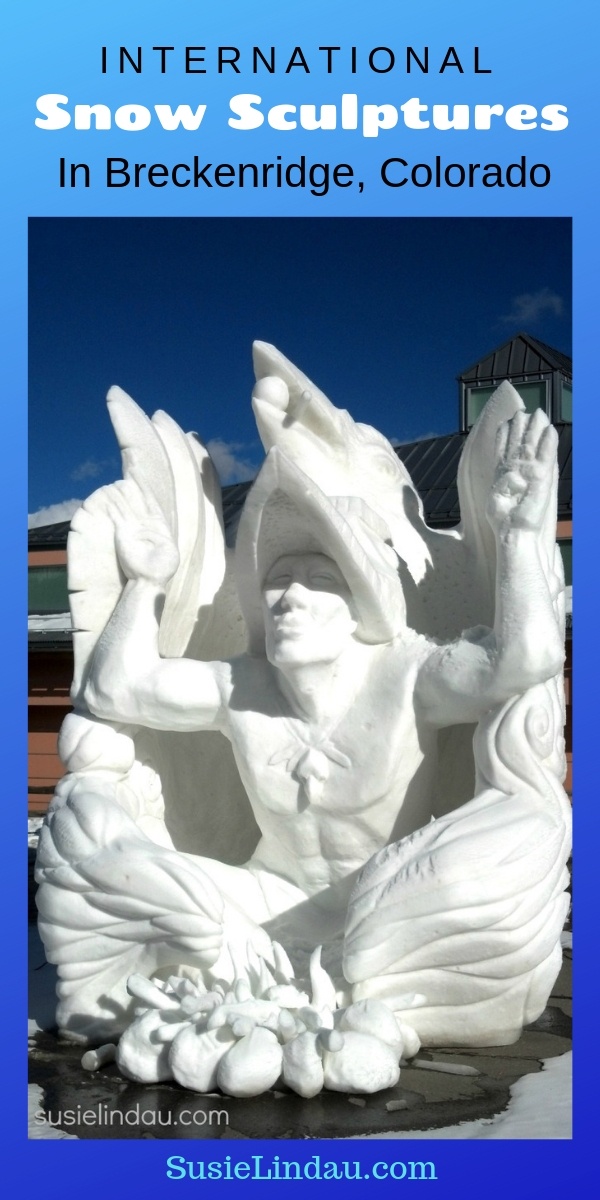 Check out the amazing snow sculptures in Breckenridge, Colorado! Travel tips and advice. Snow Art in North America #Colorado #Breckenridge #thingstodo #Snowsculptures
