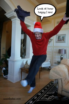 jumping for joy look how happy I am