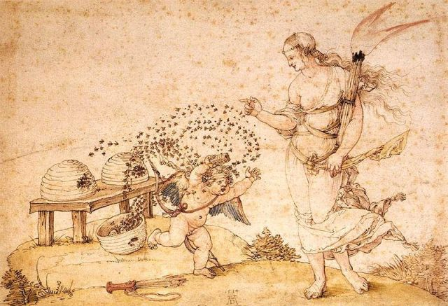 800px-Albrecht_Dürer_-_Cupid_the_Honey_Thief_-_WGA07372