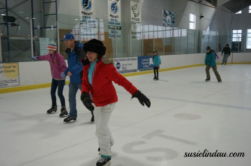 Ice skating inside the Ice Arena, one of 10 ultimate things to do in Breckenridge, Colorado. Click for more ideas and fun photos! #Colorado #traveltips #Breckenridge #iceskating #outdooradventures