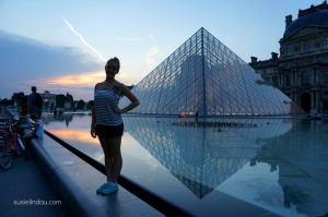The Louvre evening