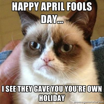 Grumpy cat April fools