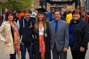 Courtney Lindau graduation with family