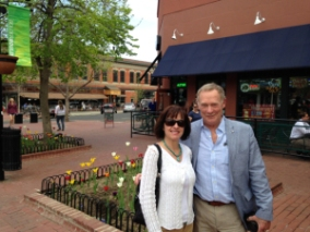 Ted Strutz and Susie Lindau on Pearl street