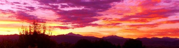 pink sunset front range