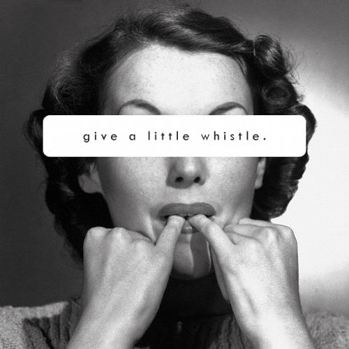 girl whistling