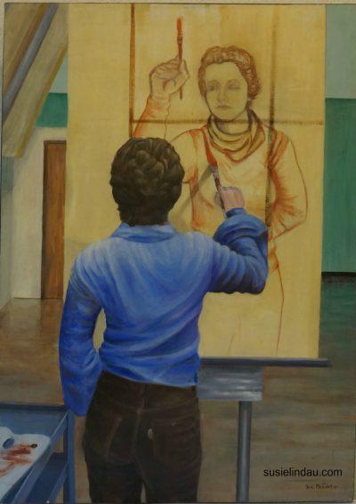Self portrait - Susie Lindau (McCartan) 1