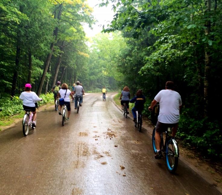 biking around mackinaw
