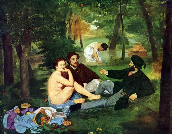 t_Manet - Luncheon on The Grass 1863