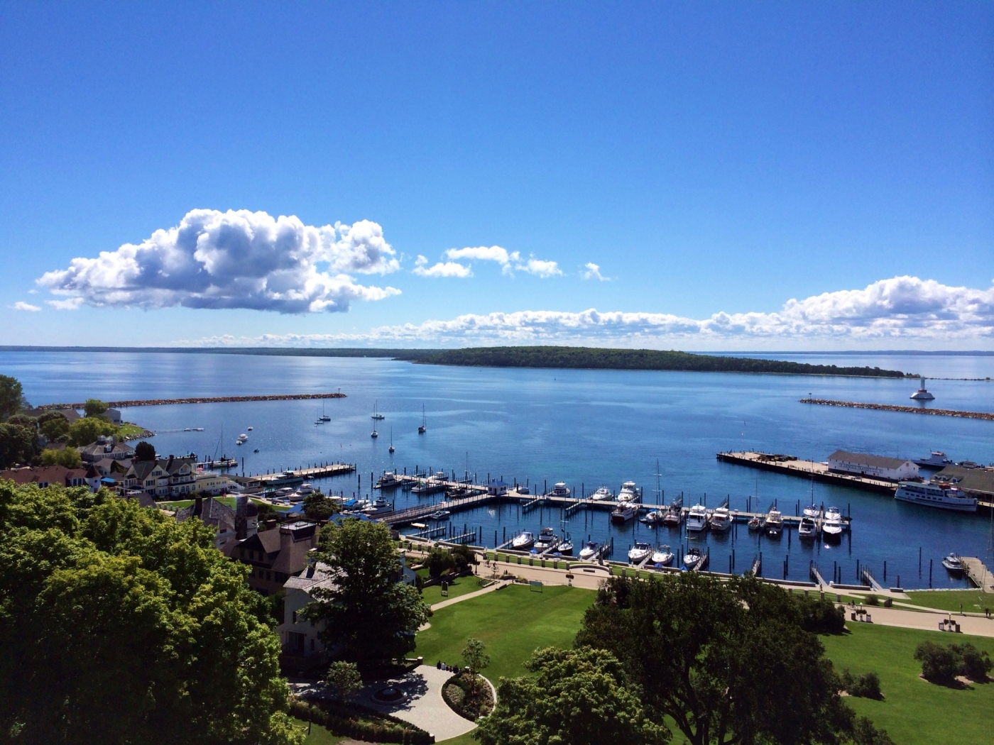 view from fort Mackinaw Island