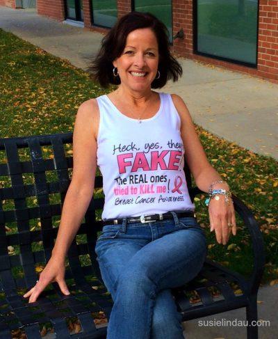 Fake boob t-shirt
