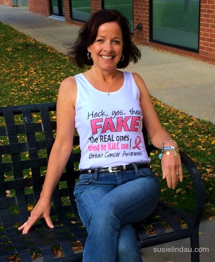 Fake boob t-shirt