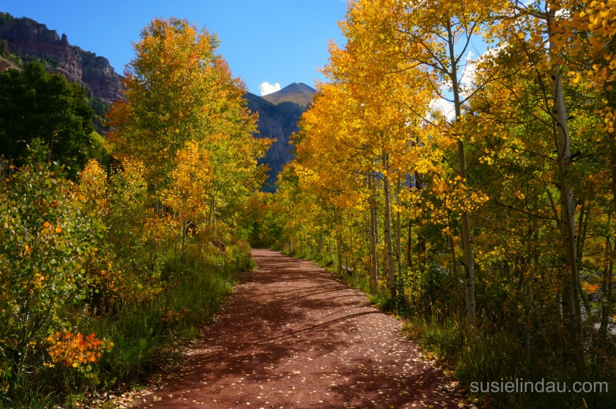 Telluride trail to waterfall