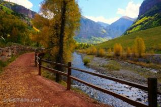 trail to bridal veil falls Telluride, CO