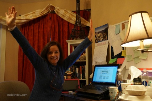 triumphant after winning nanowrimo