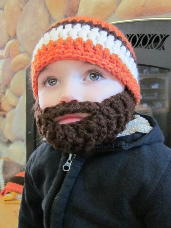 baby bearded beenie