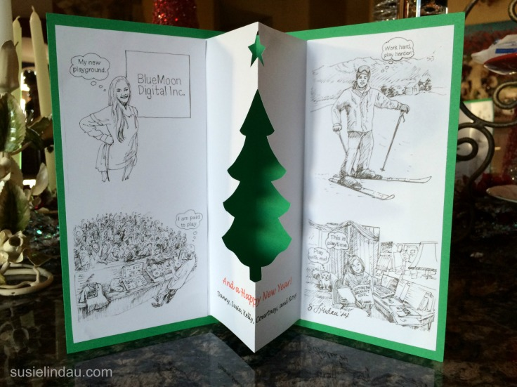 illustrated christmas card