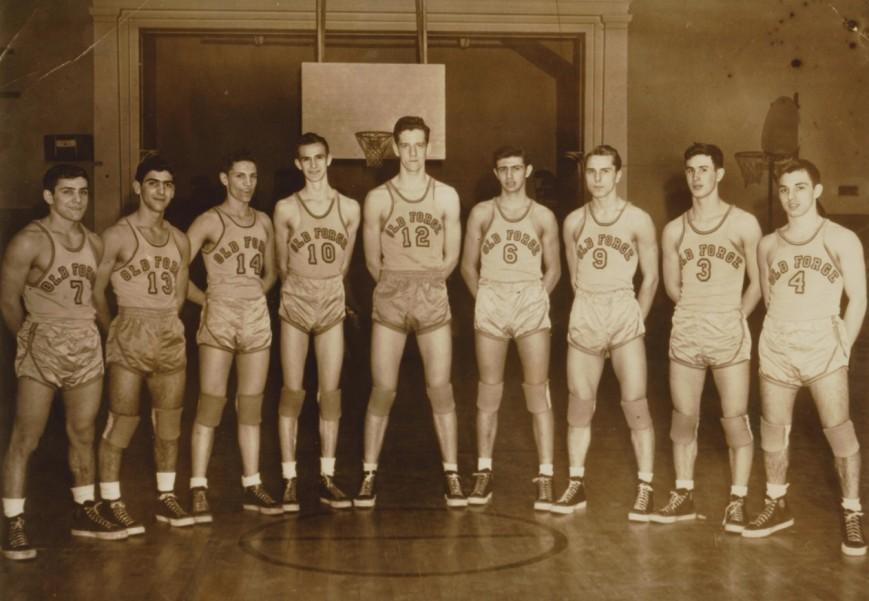 old basketball photo