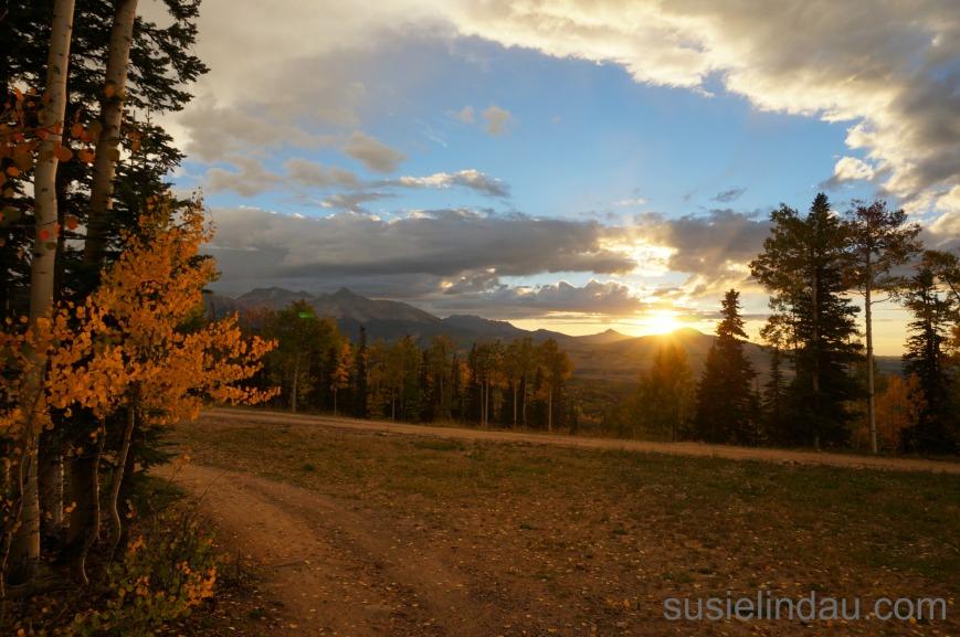 sunset in Telluride ephemeral