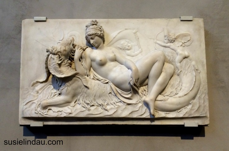 Venus reclining on sea monster