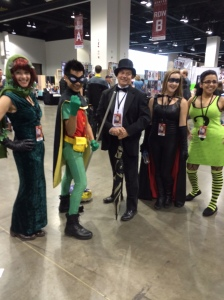 Poison Ivy, Robin, The Penguin, Batgirl
