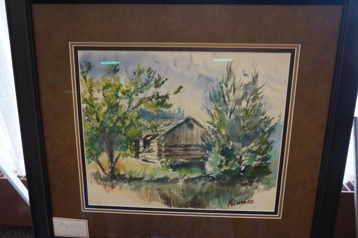 Ed McCartan log cabin