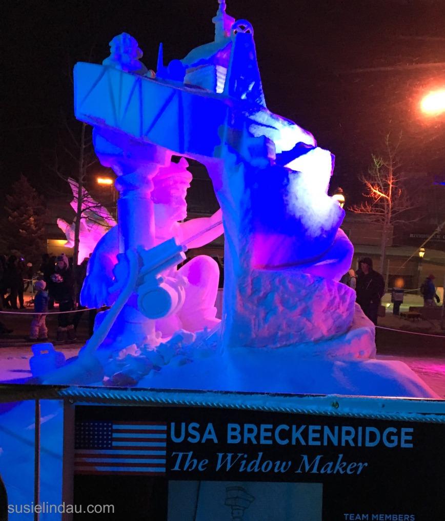 Breckenridge widow maker snow sculpture