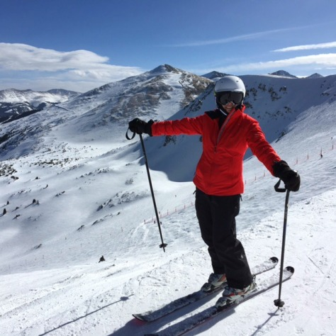 Susie Lindau Skiing Breck