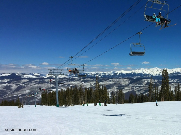 Skiing under the chairlift at Beaver Creek