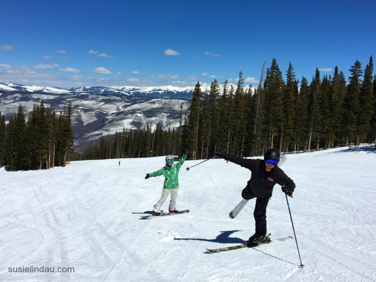 Clowning around trick skiing