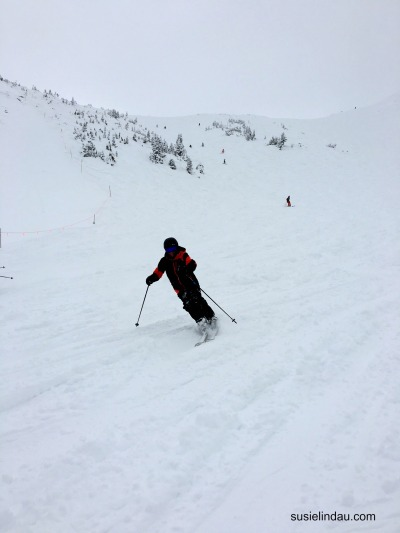 Danny skiing Whale's Tail