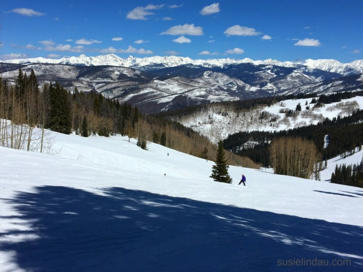 Skiing the slopes at Beaver Creek