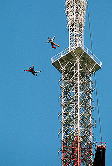 BASE jumpers off antennae