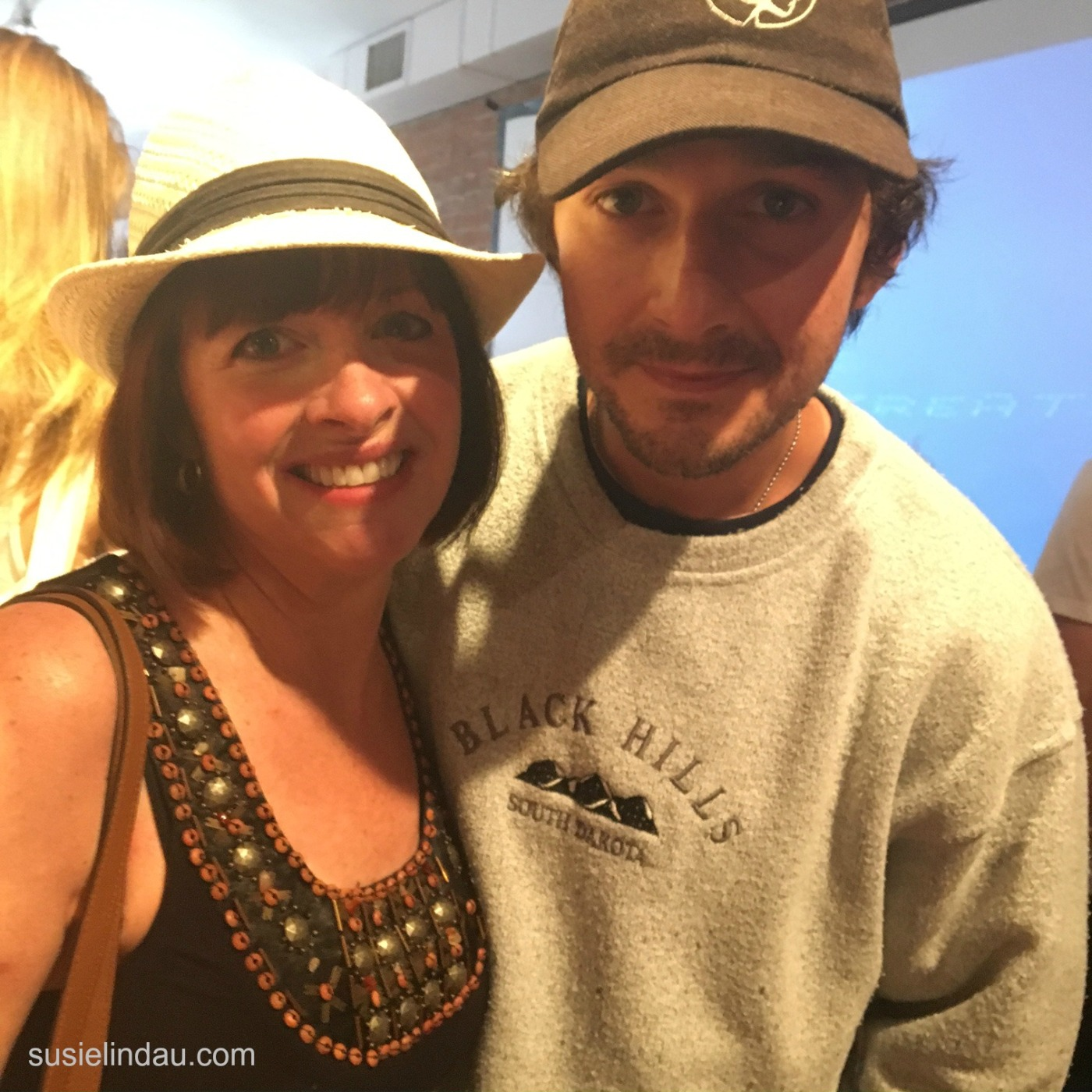 Shia LaBeouf and Susie Lindau at the Boulder Museum of Contemporary Art