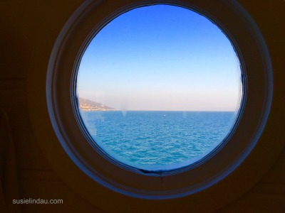 Porthole window in Malibu Farm Shop on Malibu Pier.