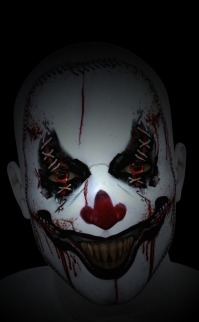 super creepy clown