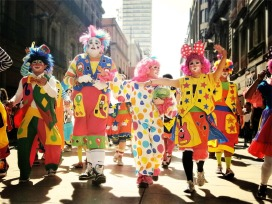 Clowns on parade. Don't come to my house Halloween night
