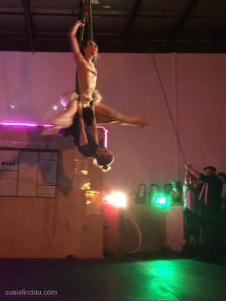 Ballerinas on trapeze