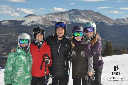 skiing Breckenridge on opening weekend with friends and family
