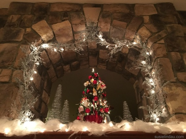 Christmas Decorations over the hearth