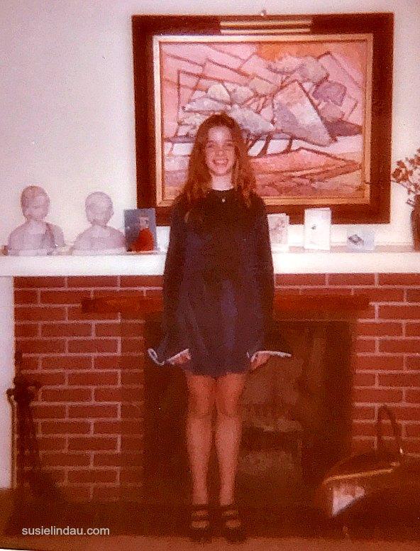 Feeling glamorous in my confirmation dress