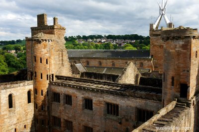 A view from the top of Linlithgow Palace