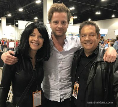 Andrew Gower with new friends Susie and Danny